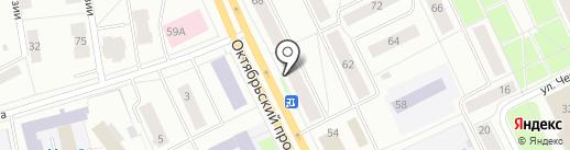 Белые Окна на карте Сыктывкара