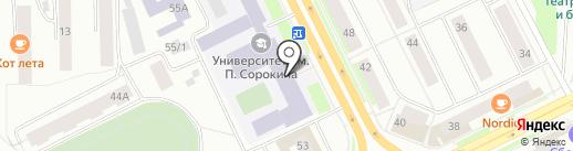 Коми республиканский лицей, ГОУ на карте Сыктывкара