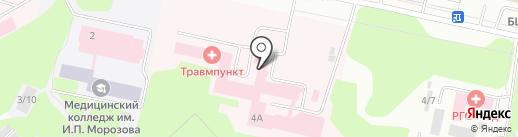 Коми республиканский онкологический диспансер на карте Сыктывкара