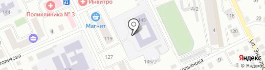 Коми национальная гимназия на карте Сыктывкара