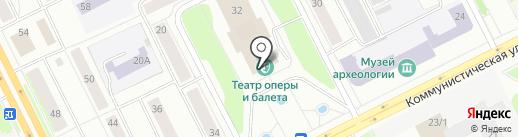 Театр оперы и балета Республики Коми на карте Сыктывкара