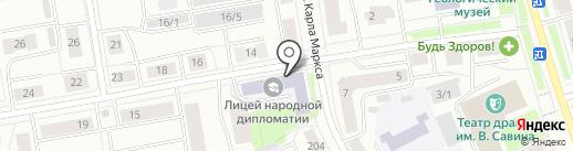 Лицей народной дипломатии, МАОУ на карте Сыктывкара