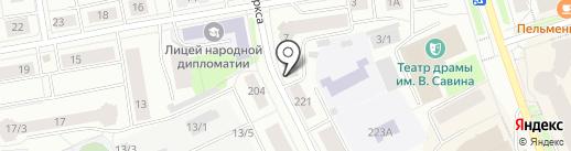 Биарма на карте Сыктывкара