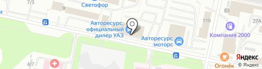 Авторесурс на карте Сыктывкара