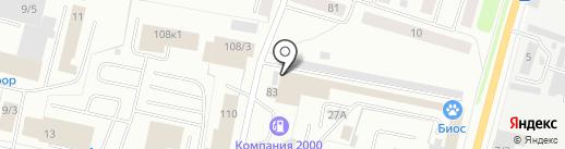 Дуплет на карте Сыктывкара