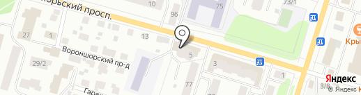 Деревянные дома Сыктывкара на карте Сыктывкара