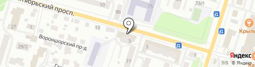 Элбург на карте Сыктывкара