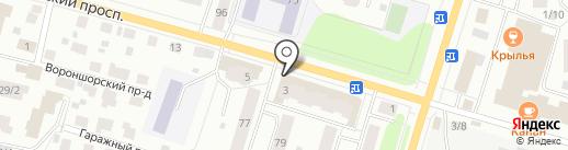 Почтовое отделение №4 на карте Сыктывкара
