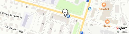 Бочонок на карте Сыктывкара