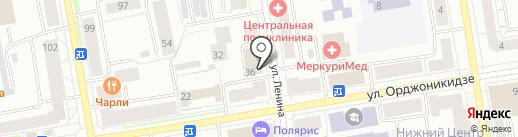 Чистюля на карте Сыктывкара
