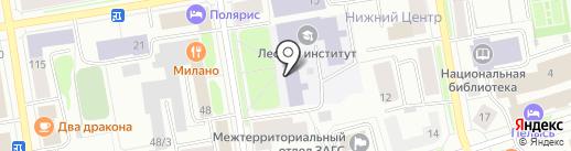 Музей истории Сыктывкарского лесного института на карте Сыктывкара