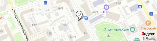 Коми республиканская общественная организация профсоюза работников связи России на карте Сыктывкара