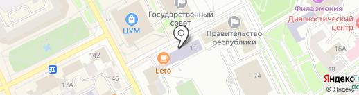 Коми республиканская академия государственной службы и управления на карте Сыктывкара