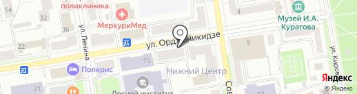 Плутония на карте Сыктывкара
