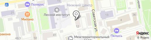Адвокатский кабинет Кирилюк В.Ю. на карте Сыктывкара