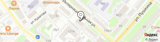 Министерство труда, занятости и социальной защиты Республики Коми на карте Сыктывкара