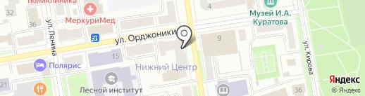 Парикмахерская-эконом на карте Сыктывкара
