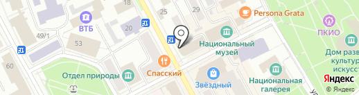 Синергия на карте Сыктывкара
