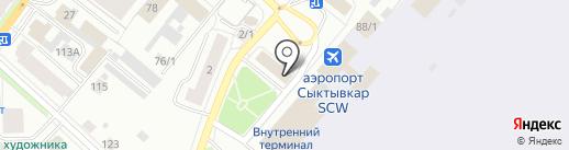 Комиавиатранс на карте Сыктывкара