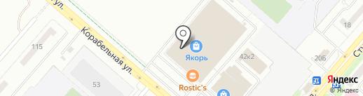 Магазин текстиля на карте Нижнекамска