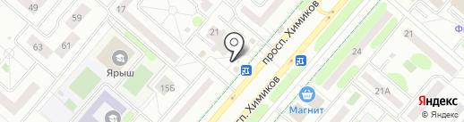 Магазин табачных изделий на карте Нижнекамска