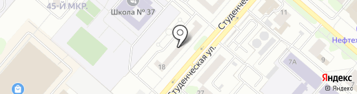 Дива на карте Нижнекамска