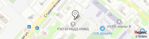РЭО ГИБДД МВД России по Нижнекамскому району на карте Нижнекамска