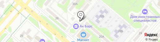 Продуктовый магазин на Корабельной на карте Нижнекамска