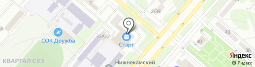 Магазин сухофруктов на карте Нижнекамска