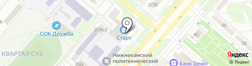 Магазин фастфудной продукции на карте Нижнекамска
