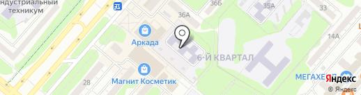 Детский сад №1 на карте Нижнекамска