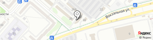 Автомойка на Вокзальной на карте Нижнекамска
