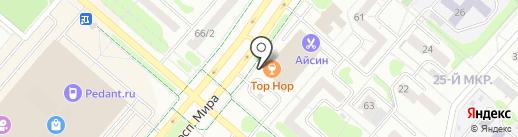 Магазин постельных принадлежностей на карте Нижнекамска