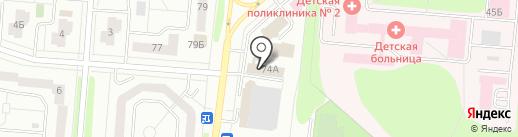 Автолик на карте Нижнекамска