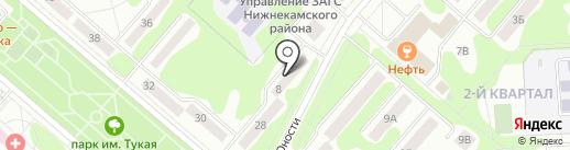 Общественный пункт охраны правопорядка на карте Нижнекамска