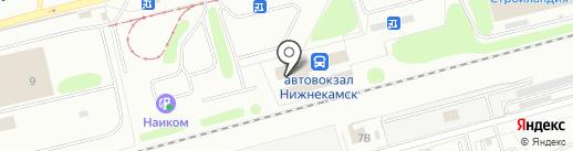 Железнодорожный вокзал на карте Нижнекамска