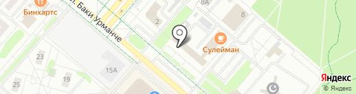 Банкомат, Почта Банк, ПАО на карте Нижнекамска