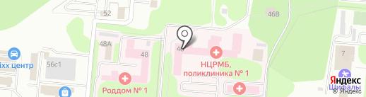 Городская поликлиника №1 на карте Нижнекамска