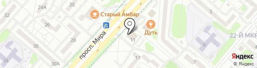 Магазин печатной продукции на проспекте Мира на карте Нижнекамска
