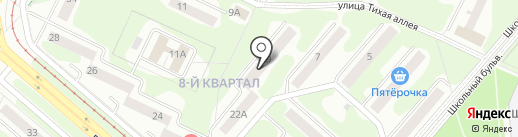 Детская библиотека №7 на карте Нижнекамска