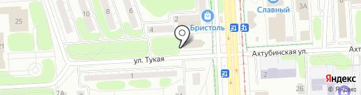 Глобус на карте Нижнекамска