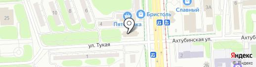 Спартак на карте Нижнекамска