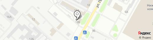 Магазин строительных материалов на карте Нижнекамска