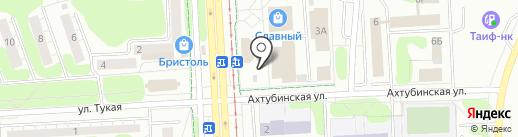 Калинка на карте Нижнекамска