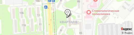 Монтажник-3 на карте Нижнекамска
