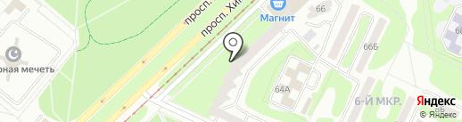 Магазин крепежей на проспекте Химиков на карте Нижнекамска