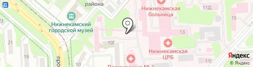 Тазалык на карте Нижнекамска