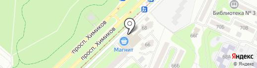 Магазин тканей на карте Нижнекамска