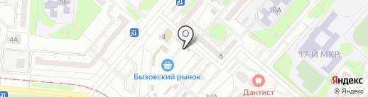 Бызовский на карте Нижнекамска