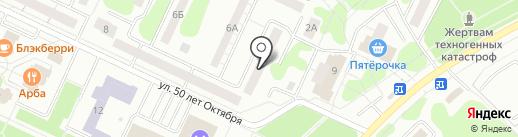 Сеть платежных терминалов, Татфондбанк, ПАО на карте Нижнекамска